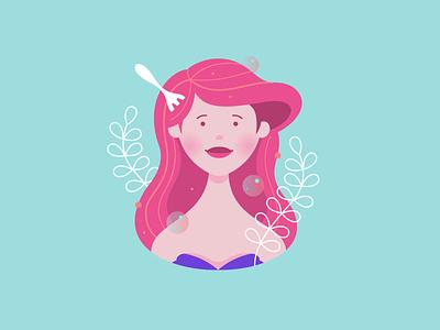 Disney Avatars - Ariel vector art digitalart ariel disney design avatar character illustration vector