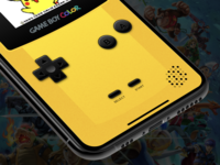 Gameboy Color for iOS consoles gaming emulator skeumorphism retro color gameboy nintendo design ios ux concept ui app