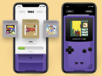 Gameboy iOS Rebound mario zelda tetris nostalgia nintendo rebound games skeumorphism gaming retro gameboy color gameboy design ios ux concept ui app