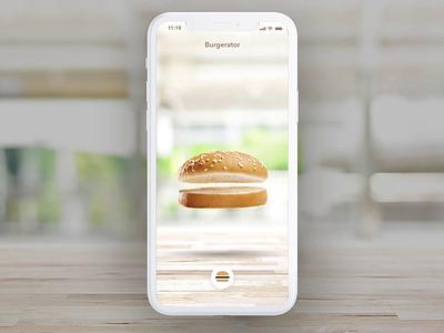 Burgerator - Burger Configurator fast food configurator protopie interaction animation burger design ios ux concept ui app