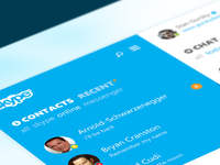 Skype re-redesign sneak peek