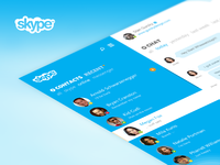 Skype re-redesign chat view