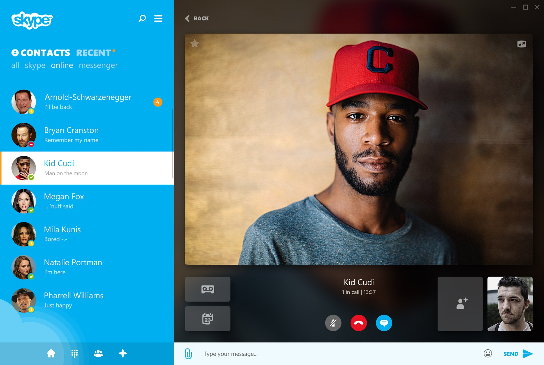 Skype videocall
