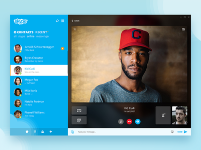 Videocall - Skype re-redesign
