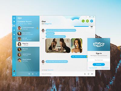 Skype Chat - Fluent Design rebound ui ux chat concept redesign microsoft fluent design skype