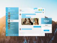 Skype Chat - Fluent Design