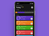Time Tracker - Main (Dark Mode)