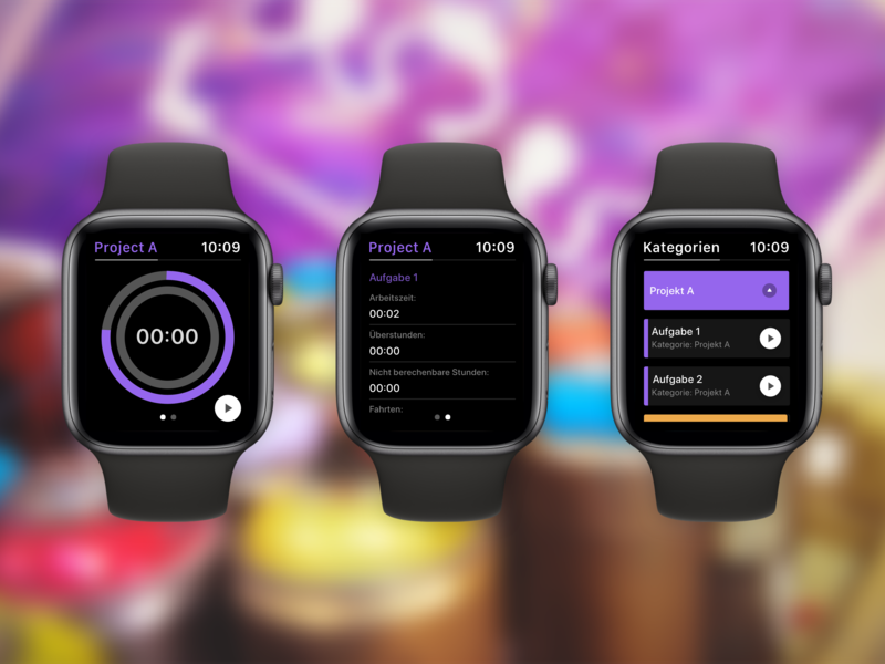Tyme - Concept (Watch) wearable timetracker watchface apple watch apple redesign ios ux concept flat ui app