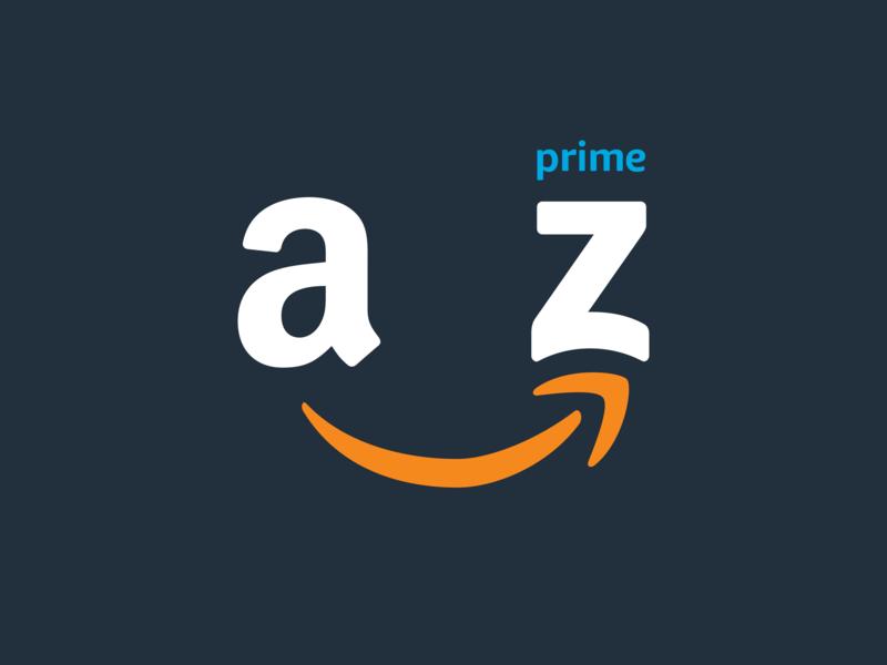 A Z Rebound logomark prime swoosh rebound branding logo amazon