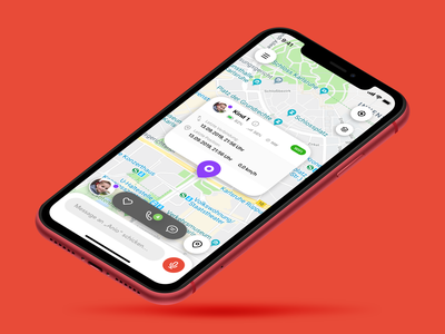 Smart Watch for Kids App chat call rounded maps messaging tracker children kids smart watch apple ios ux concept ui app