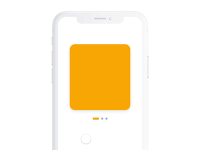 Pager - Interaction cards swipe dot pager design apple ios ux flat concept ui app