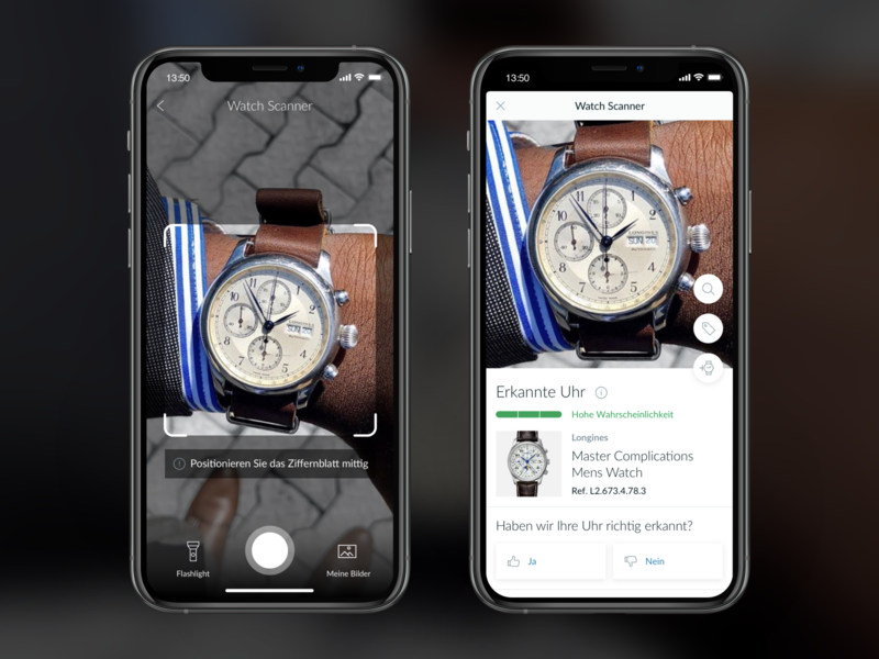 Chrono24 - Watch Scanner scanner watches luxury chrono24 google ai artificial intelligence android design apple ios ux ui app