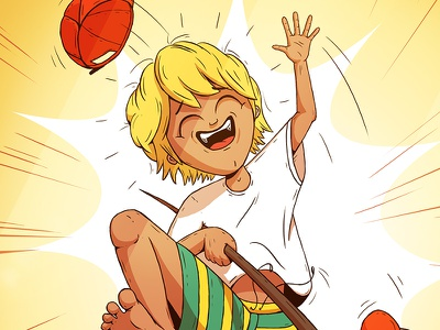 Children's Book Illustration colourful graphic novel comic picture book smile children illustration childrens book cheerful cartoon joy face happy boy kid character design character drawing illustration