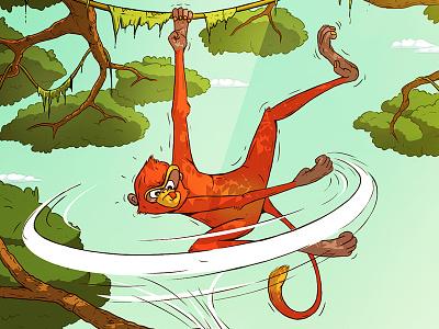 Children's Book Illustration handdrawn manga comics comic throw picture book childrens book jungle monkey disney pixar character design character drawing illustration