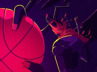 Streetball demons streetball basketball ball dribbble character illustrator illu design photoshop drawing illustration