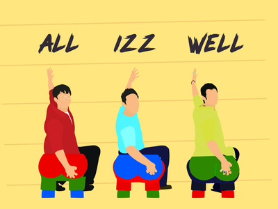 All Izz Well - Dribbble Weekly Warm-up well izz all mantra 3idiots dribbleweeklywarmup dribbble illustraion