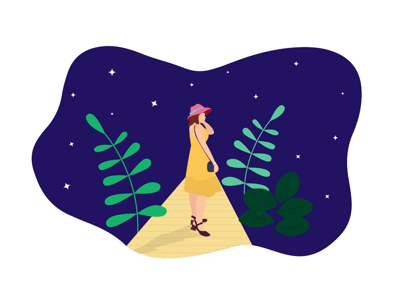 My Unrequited Love star yellow love unrequited girl illustraion