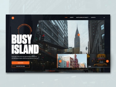 Manhattan ux branding urban look and feel concept experiencedesign event manhattan new york street ui concept website design webdesign website city photography ui