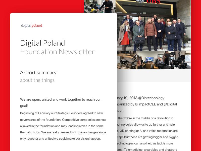 DigitalPoland - Newsletter desktop newsletter ui ux clean minimal email landing layout web design