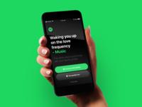 Spotify Alarm Clock hand