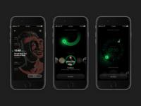 Spotify alarm clock screens