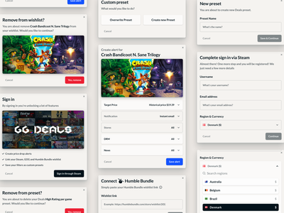 GG Deals 2.0 menus design navigation layout ecommerce dailyui skech web ux ui interface graphic deisgn game