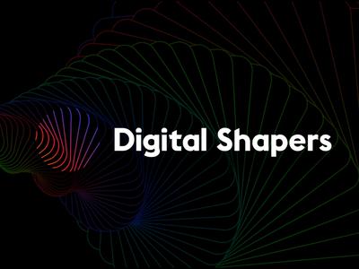 Digital Shapers animation gradient colors vector graphic design digital motion after effect gif branding design animation logo