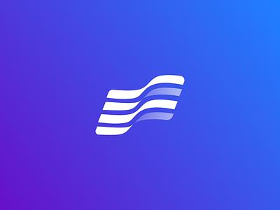 Fortis. Early concept. sport branding flag letter hidden letter f color gradient emblem blue sign brand branding logo