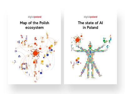 The Map of Polish AI - Report Illustrations 1 illustrate illustration square artificial intelligence digitalpoland digital ai covers