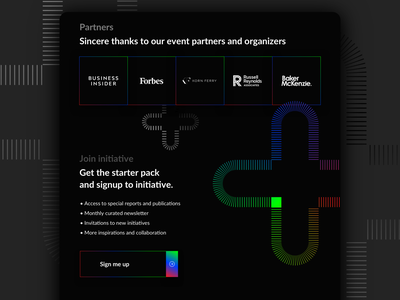 Digital Shapers signup section signup fold ui ux webdesign web gradient shapes award event black landing digital website