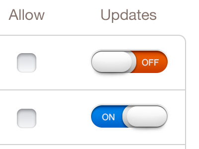 Old Switches For App ui switches ios ipad