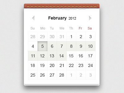 Calendar picker date calendar ui