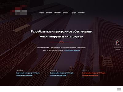 Company site. In progress. concept site