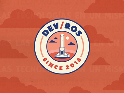 Dev/Ros logo vector illustrator design monument orange branding santa fe developers argentina rosario logo