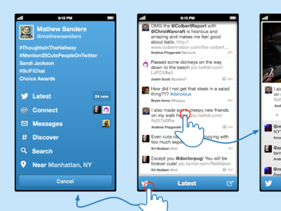 Twitter Client Fun Design 1 ios iphone twitter iphone5 just for fun