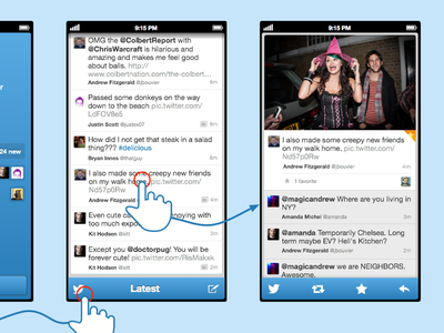 Twitter Client Fun Design 2 twitter iphone5 just for fun ios iphone