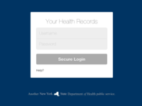 Health Records Login