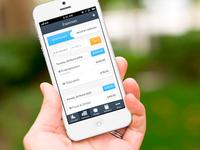 Personal finance iOS app