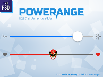 Powerange - iOS 7 style range slider ios 7 javascript slider range control quantity ios freebie ui psd psddd