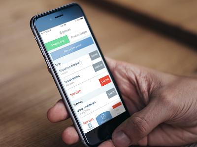 Personal finance iOS app rework ios iphone ui app dashboard menu navigation flat clean finance