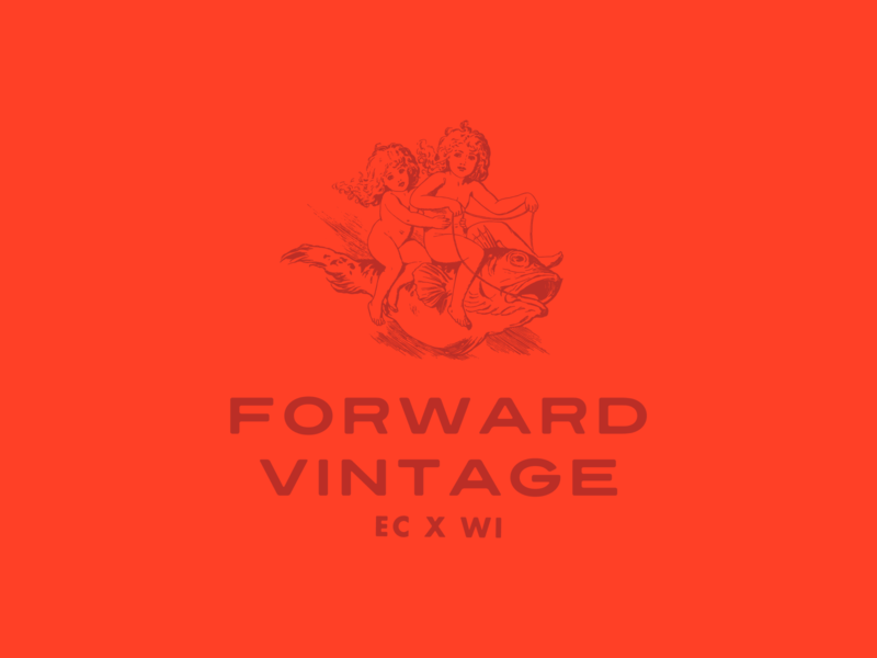Forward Vintage Logo Design, 2019 retro brand branding thrifting vintage logos logo design typography illustration logo