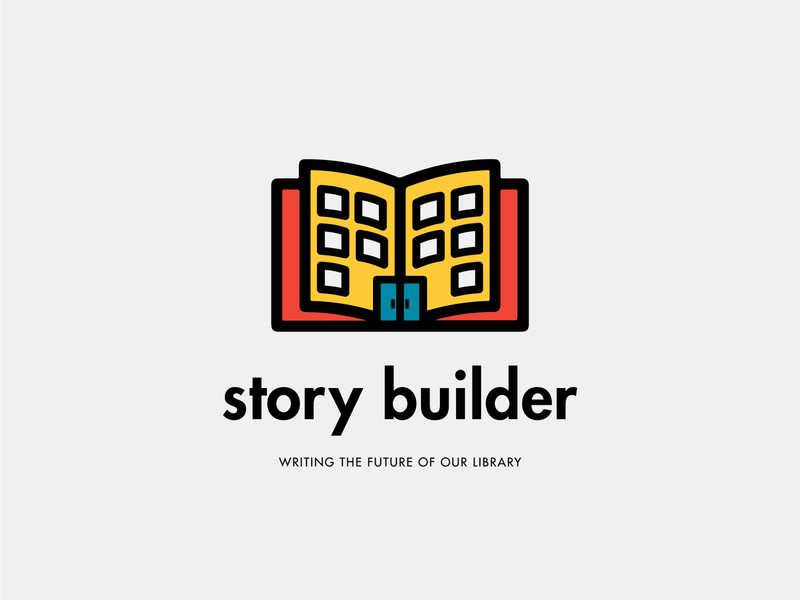 Story Builder Campaign Logo Design, 2019 vector illustration capital campaign campaign kids design branding logo library logo library graphic design public library library