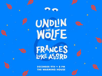 Undlin & Wolfe Show Poster