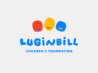 Luginbill Children's Foundation Logo lettering typography playful logo design logo non-profit kids children drawing branding illustration