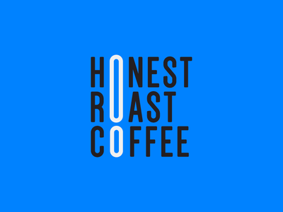 Honest Roast Coffee Logo icon exciting lettering typography identity brand branding mark logo design logo coffee