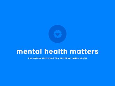 Mental Health Matters Concept Logo brand branding youth badge mental health heart flower iconography icon mark logo design logo