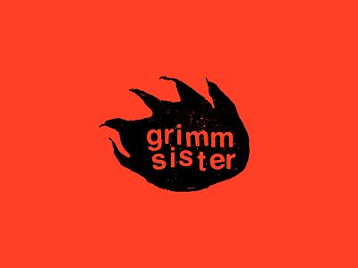 Grimm Sister Concept Logo typography nature music logo lettering illustration hand lettering fire branding band logo band