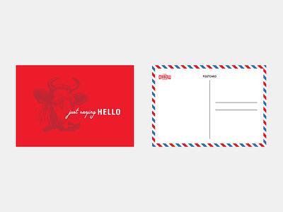 Oxbow Hotel Postcard Design brand branding typography layout graphic design design par avion airmail postcard hotel