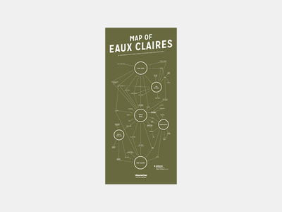 Map of Eaux Claires Festival Poster music graphic design screenprint print forest nature midwest eaux claires posters poster design music festival