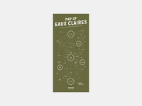 Map of Eaux Claires Festival Poster